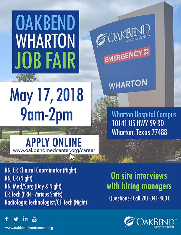 Wharton Job Fair May 17 small