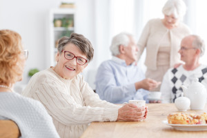 People At Old Age Home