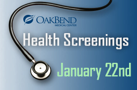 FREE Health Screenings – January 22nd